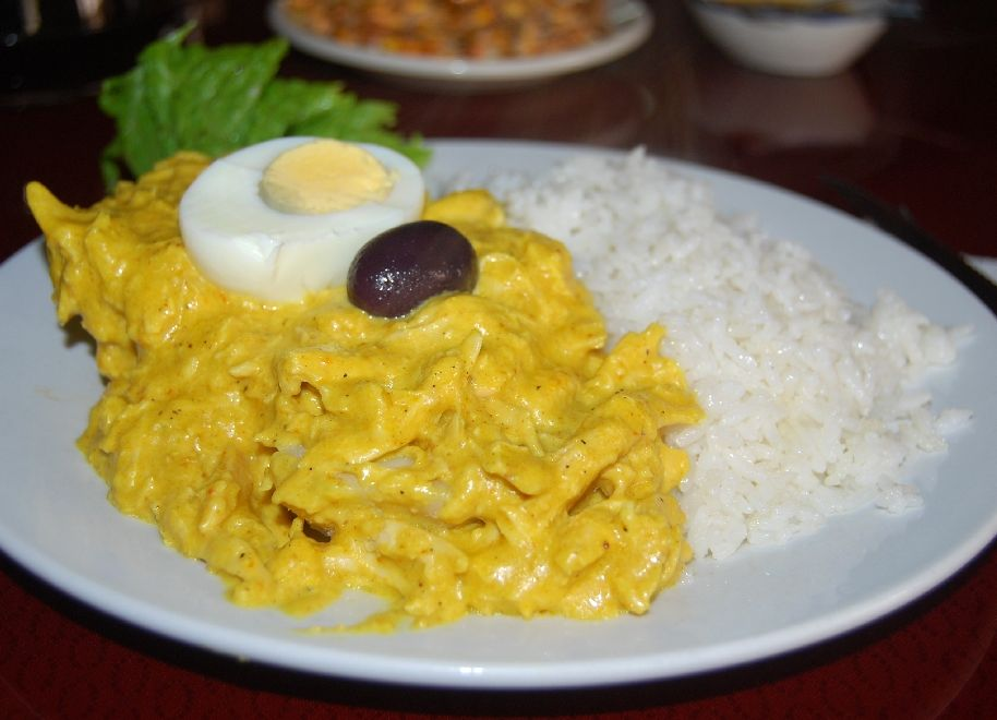 Aji de Gallina pérou plat cuisine